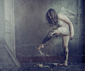girl, photography, and wings image