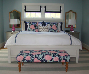 bedroom, preppy, and decor image