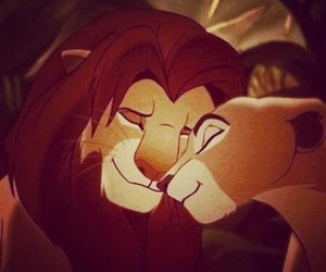 love, lion, and disney image