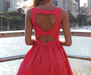 dress, pink, and heart image