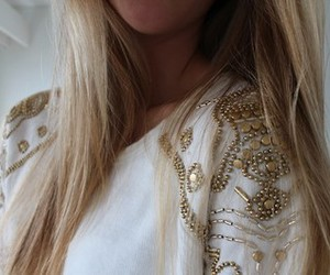 blonde, girly, and shirt image
