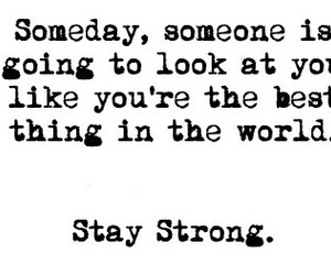 quote and stay strong image