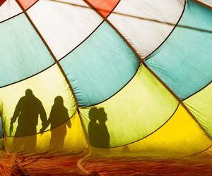35mm, air balloon, and holding hands image