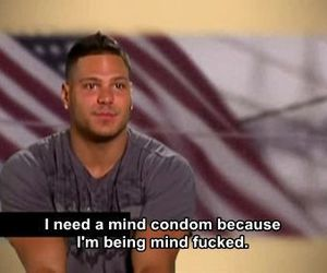 condom, fucked, and jersey shore image