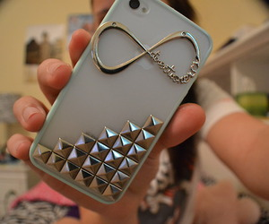 case, iphone, and infinity image