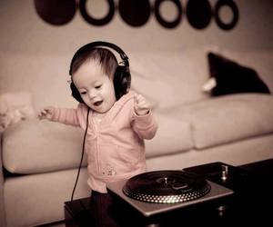 cute baby, music, and love image