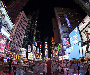 city, new york city, and times square image