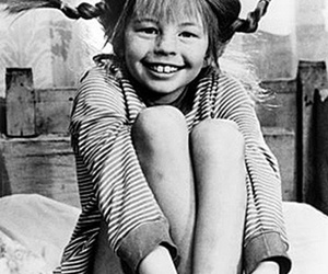 black and white and pippi image