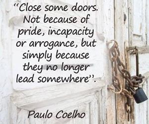 quotes, doors, and life image