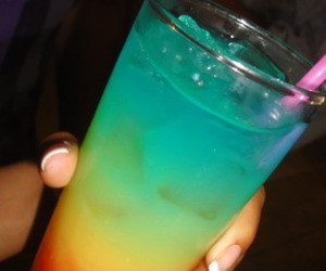 drink, party, and colors image