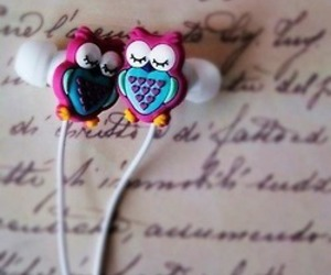 cute, earphones, and headphones image