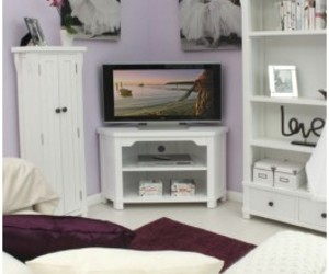 white furniture and white tv cabinets image