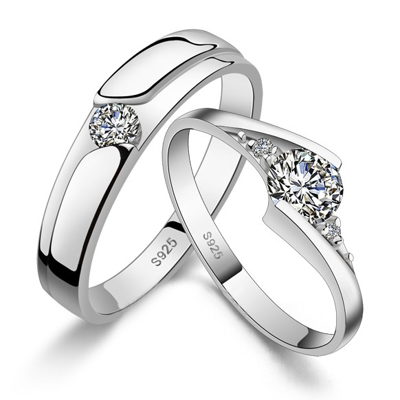 Sterling Silver Engraved Wedding Bands Set For Men And Women