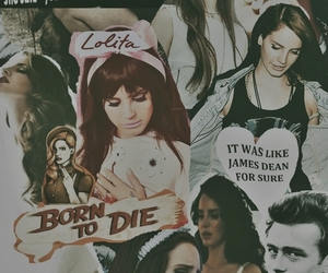 Collage, james dean, and lolita image