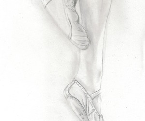 drawing, ballet, and dancer image