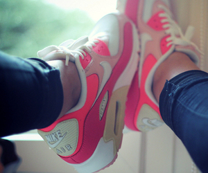 air max, pink, and style image