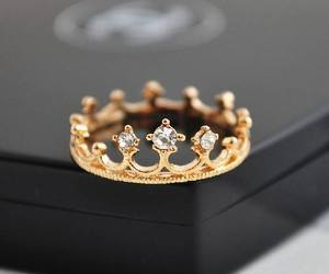 ring, cute, and gold ring image