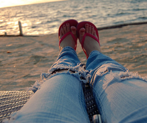feet, girl, and jeans image
