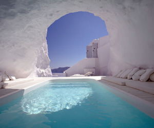 architecture, Greece, and light image