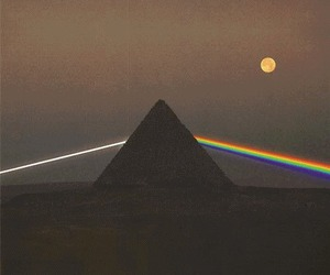 black and white, color, and Pink Floyd image