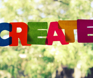 create, quote, and colorful image