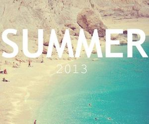 summer, beach, and 2013 image