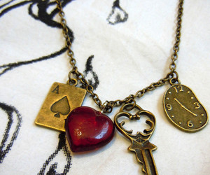 hearts, jewellery, and necklace image