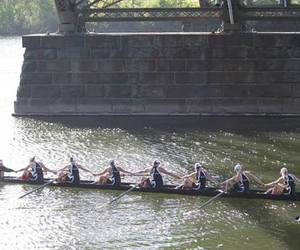 boat, crew, and rowing image