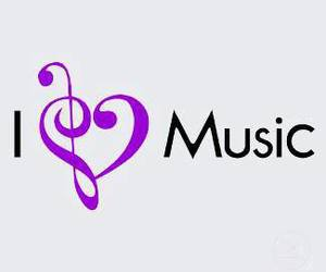 i, music, and love image