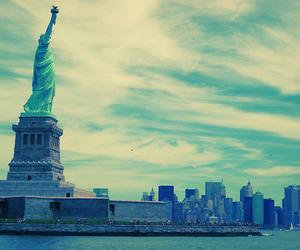 new york, city, and sky image