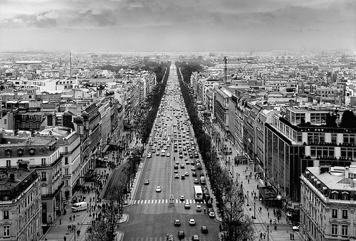 black and white, paris, and france image