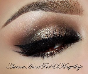 brown, makeup, and pretty image