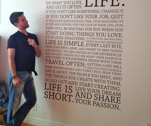 bedroom, guy, and quote image