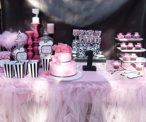 cake, chanel, and party image