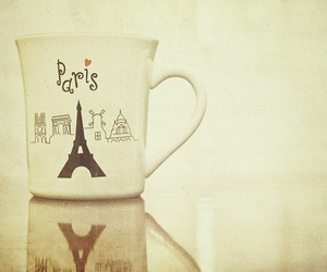 cup, eiffel, and france image
