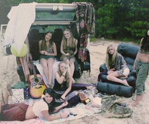 girls, beach, and friends image