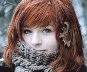 red hair, eyes, and redhead image