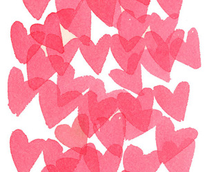 pink, love, and hearts image
