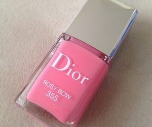 dior, pink, and nail polish image