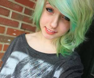 dyed hair, cute, and girl image