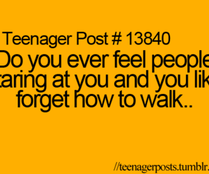 teenager post, quote, and walk image