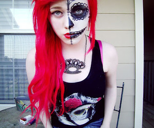 alt model, red hair, and dyed hair image