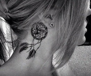 beautiful, black and white, and dreamcatcher image