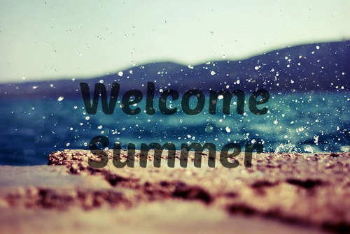 summer, welcome, and sand image