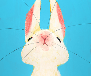rabbit, bunny, and art image