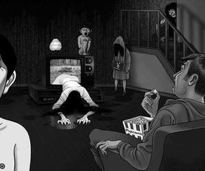 horror, terror, and movie image