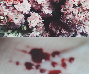 blood and flowers image