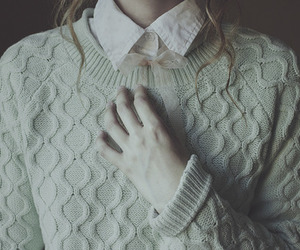 sweater, pale, and vintage image