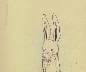 bunny, illustration, and drawing image