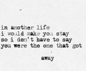 love, away, and Lyrics image